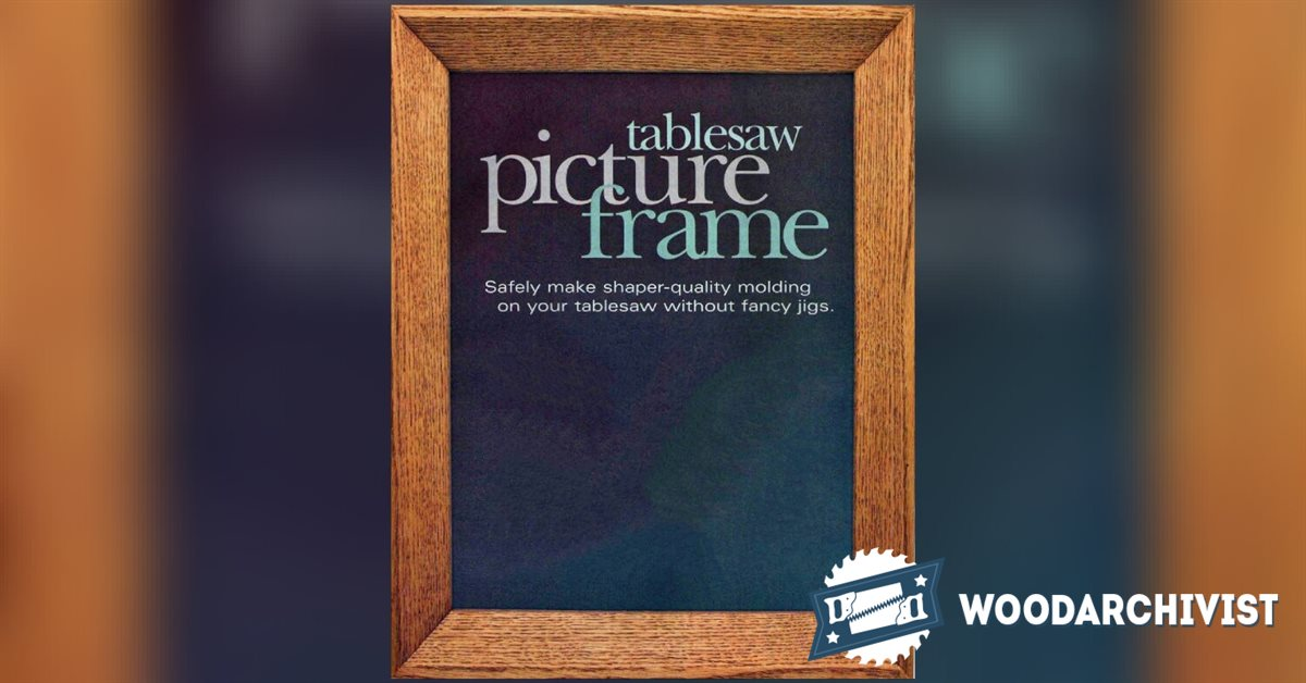 Table saw picture frame woodarchivist for How to display picture frames on a table
