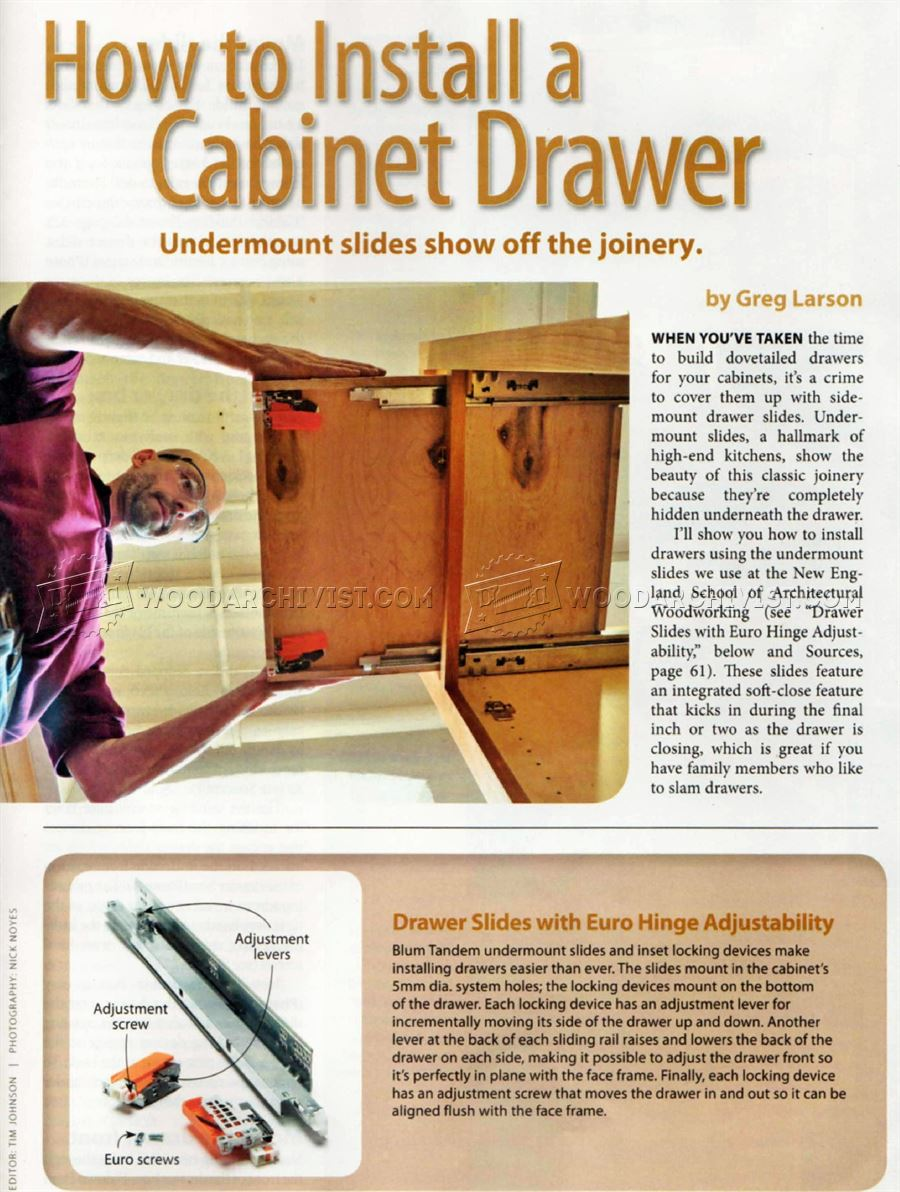 How to Install Cabinet Drawer