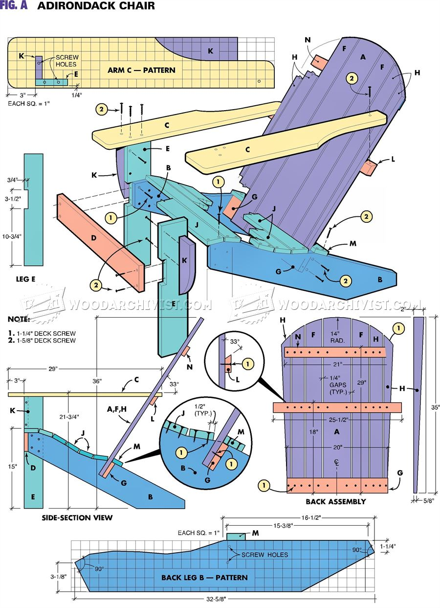 Traditional Adirondack Chair Plans