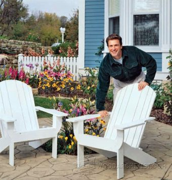 1412-Traditional Adirondack Chair Plans