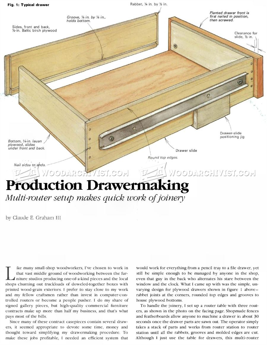 Drawer Construction Jig