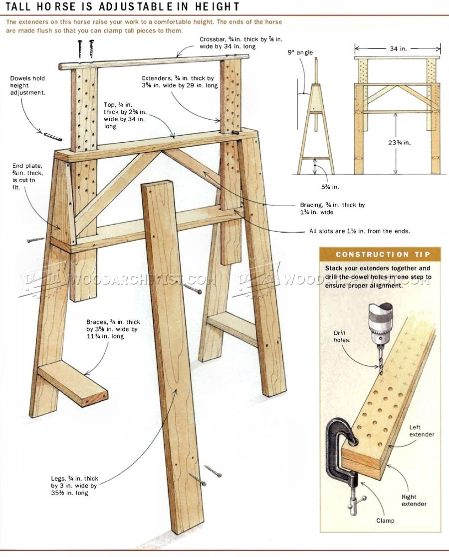 Sawhorses for The Shop