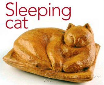 1430-Carving Cat - Wood Carving Patterns