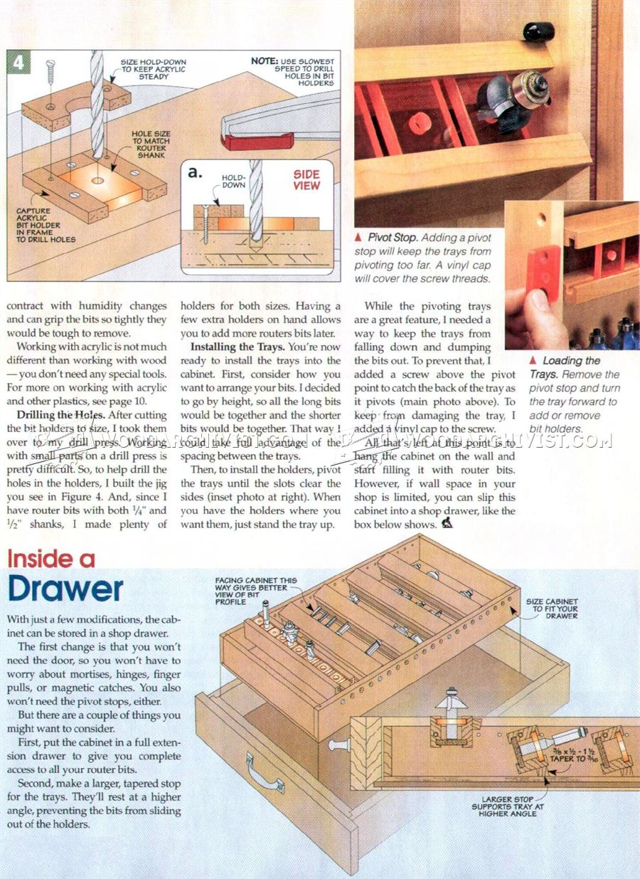 ... Carving Bits Plans Free Download. on router bit storage cabinet plans