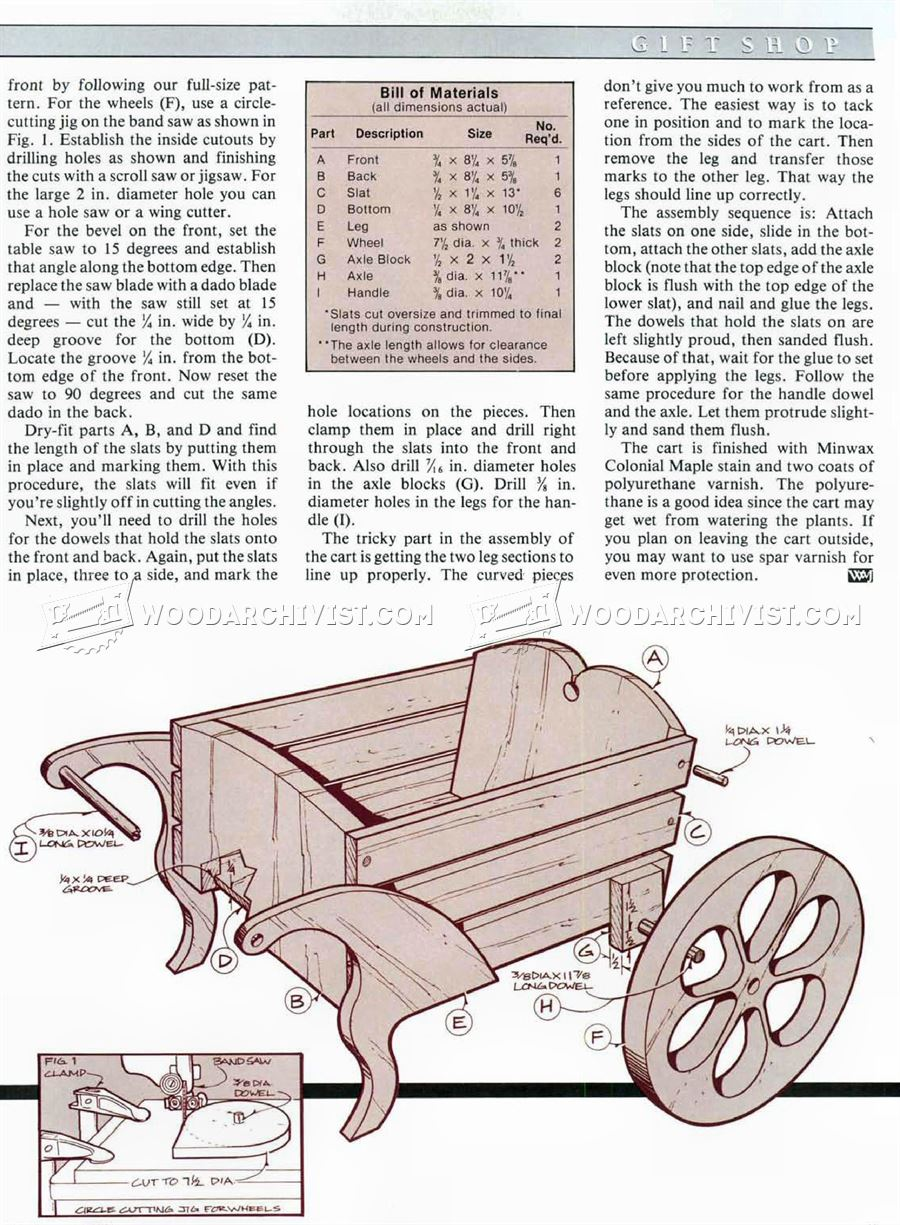 Miniature Flower Cart Plan