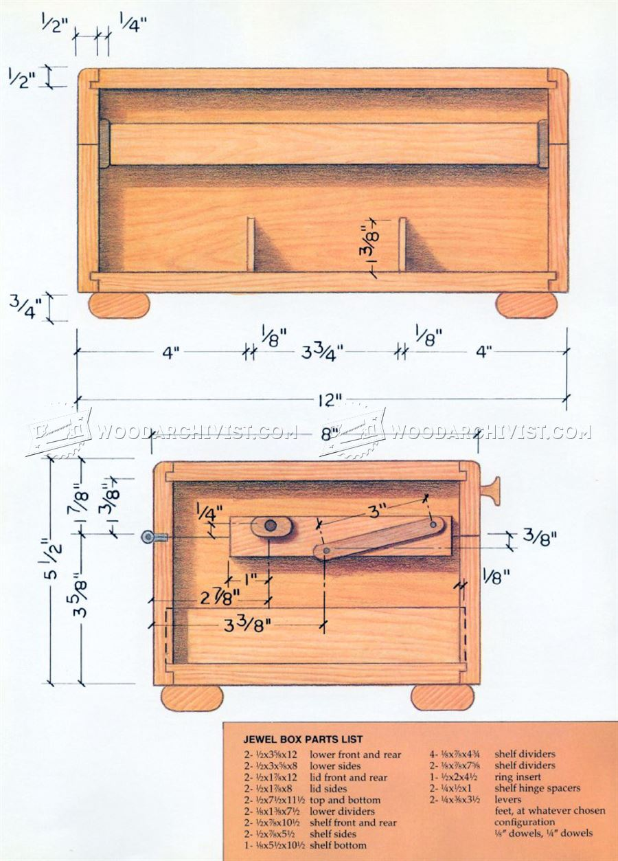30 Cool Woodworking Jewelry Box Plans smakawy com