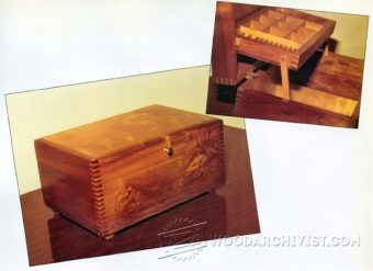 1436-Wooden Jewelry Box Plans