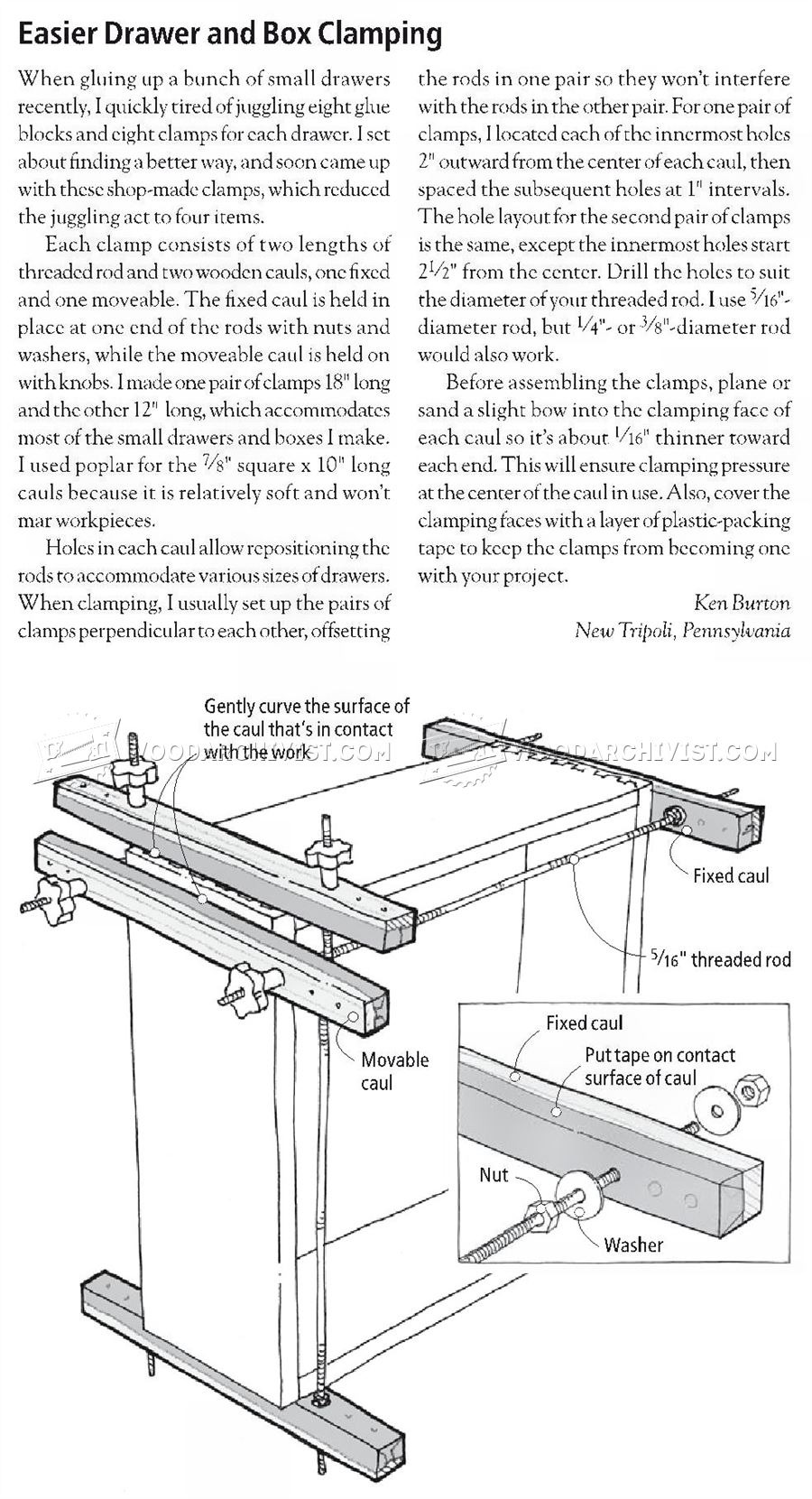 Drawer and Box Clamping Jig