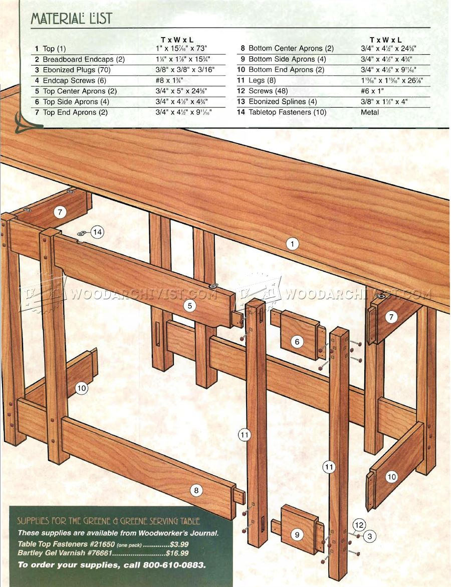 Serving Table Plans
