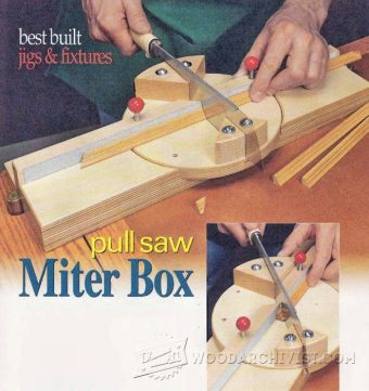 1469-DIY Pull Saw Miter Box