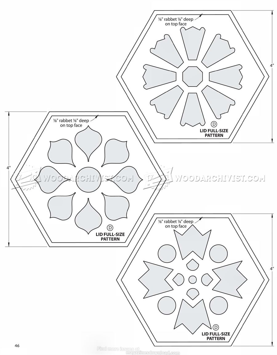 #1470 Scrollsawn Potpourri Box Plans