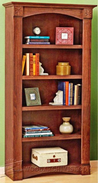 1029 barrister bookcase plans woodarchivist for Stacking bookcase plans