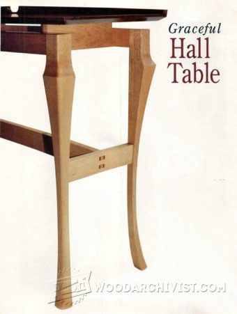 1472-Graceful Hall Table Plans