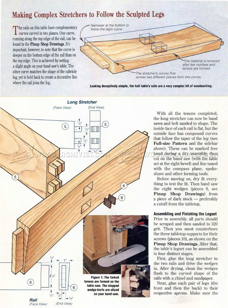 Graceful Hall Table Plans
