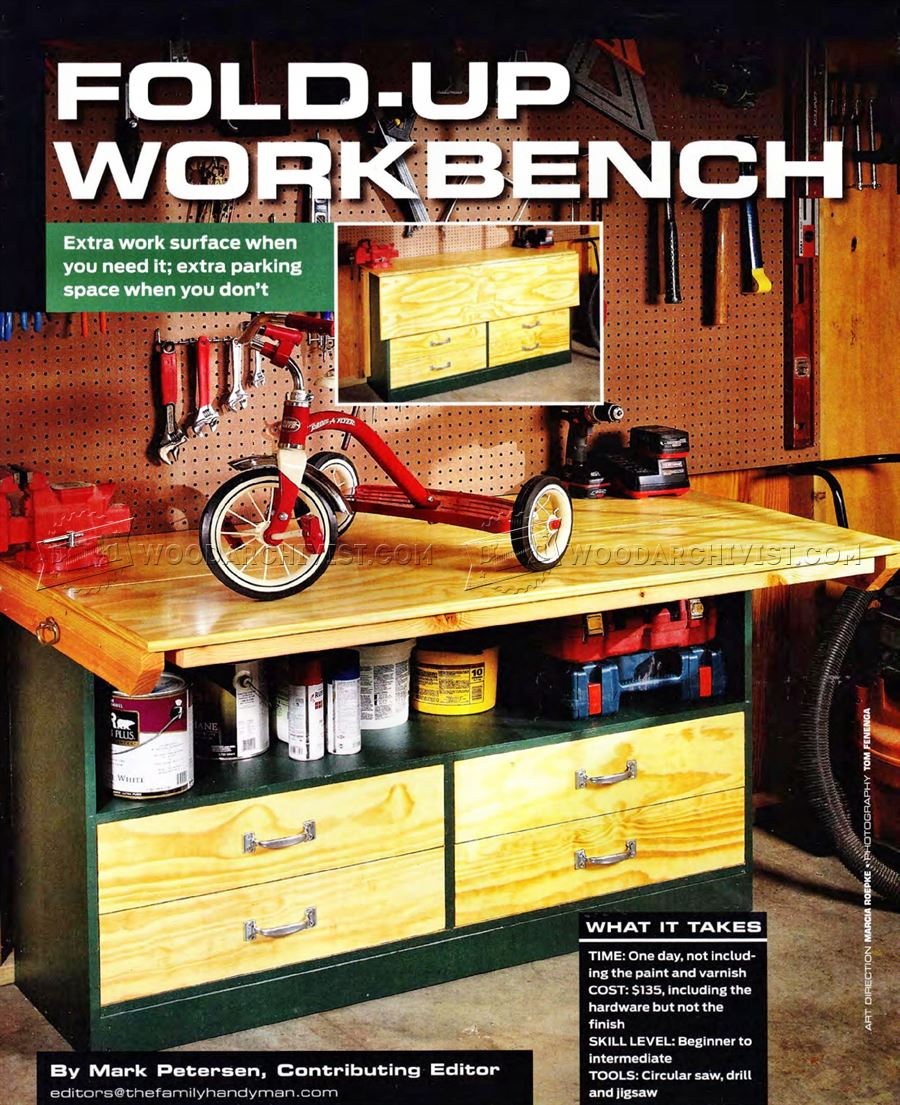 Fold Up Workbench Plans