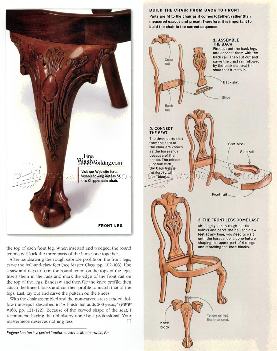 #1478 Philadelphia Side Chair Plans