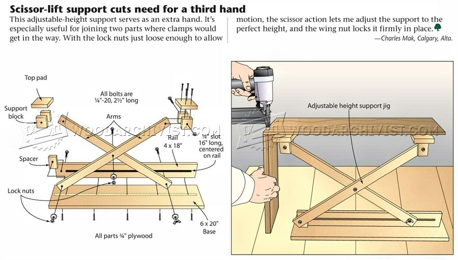 #1353 Adjustable Height Support Jig