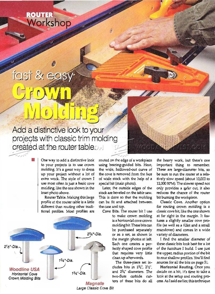 #1482 Making Crown Molding