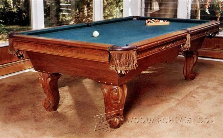 1485 build pool table woodarchivist for Pool table plans