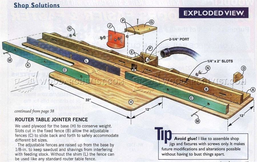 Router Table Jointer Fence • WoodArchivist