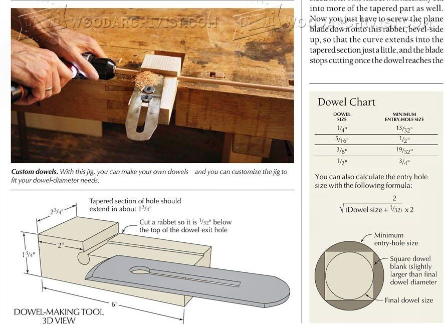 Dowel Making Jig
