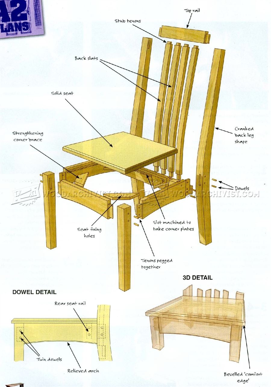 #1489 Oak Dining Chairs  Plans