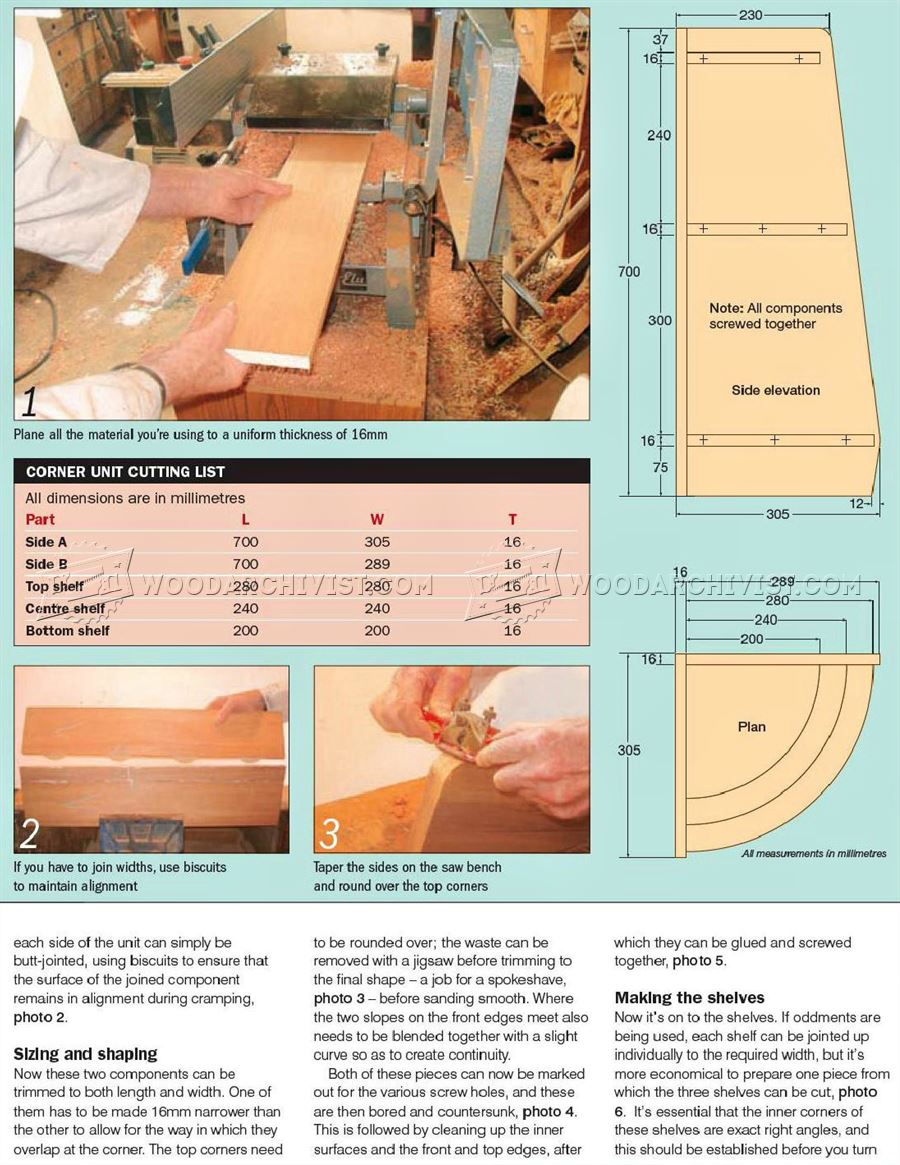 1493 Corner Display Unit Plans - Furniture Plans and Projects