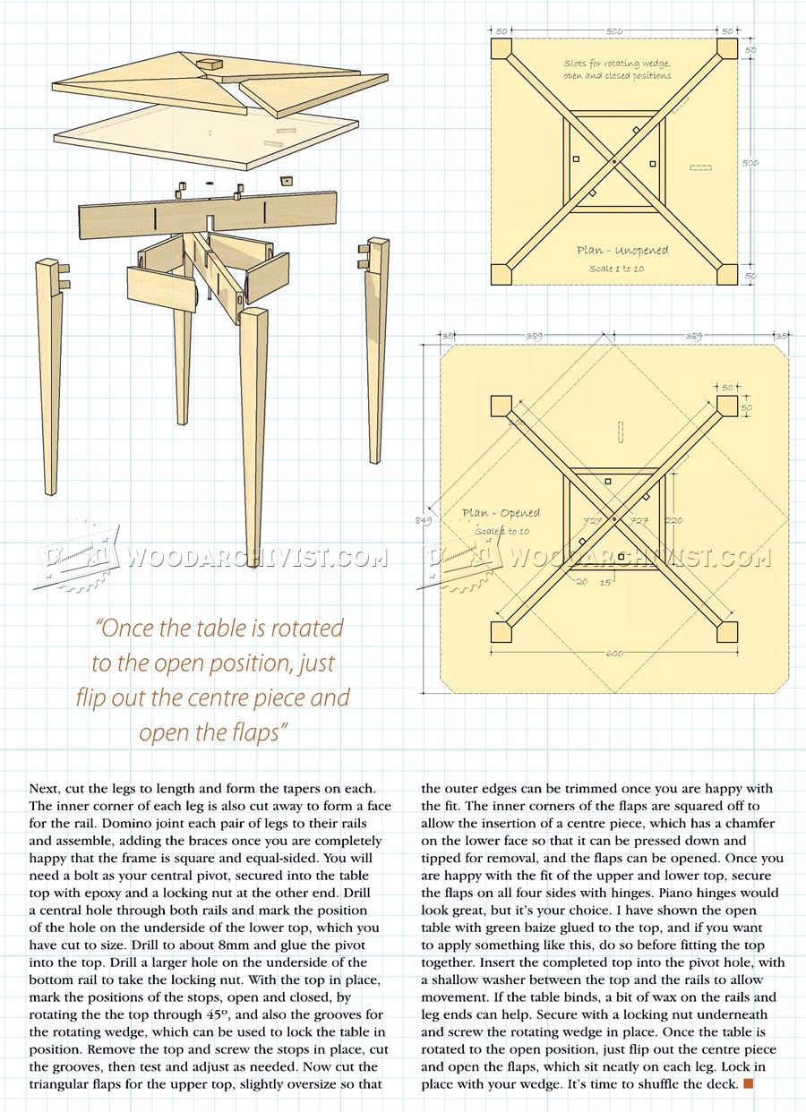 Folding table plans for Folding table woodworking plans