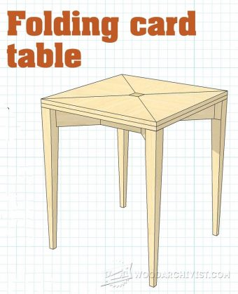 1501-Folding Card Table Plans