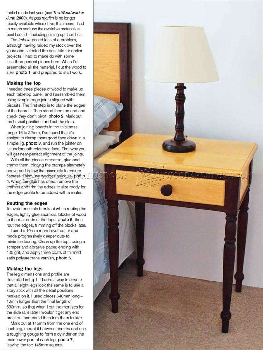 Bedside table design plans - Bedside Table Plans Bedside Table Plans