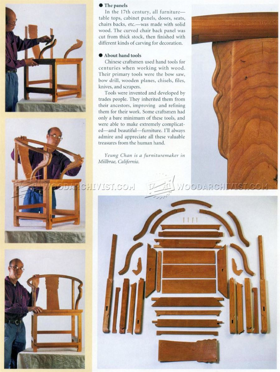Ming Dynasty Arm Chair Plans