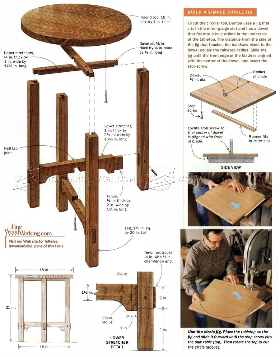 Art and Crafts Side Table Plans