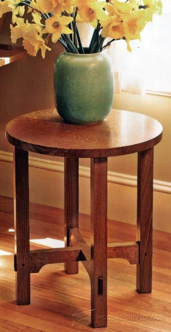 1507-Art and Crafts  Side Table Plans