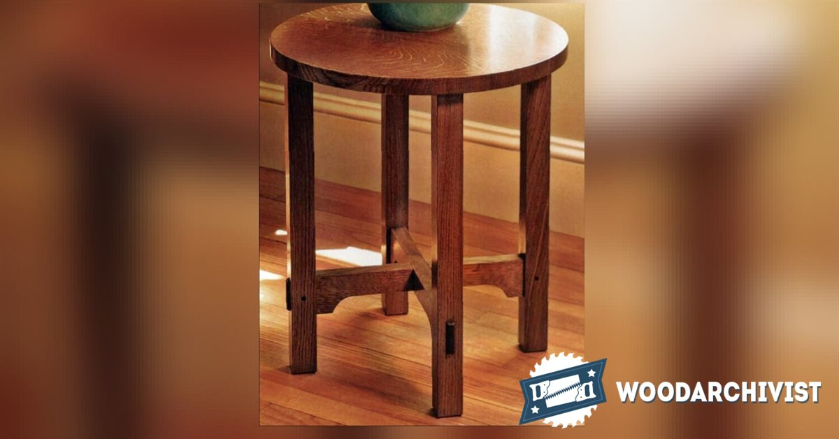 Art And Crafts Side Table Plans Woodarchivist