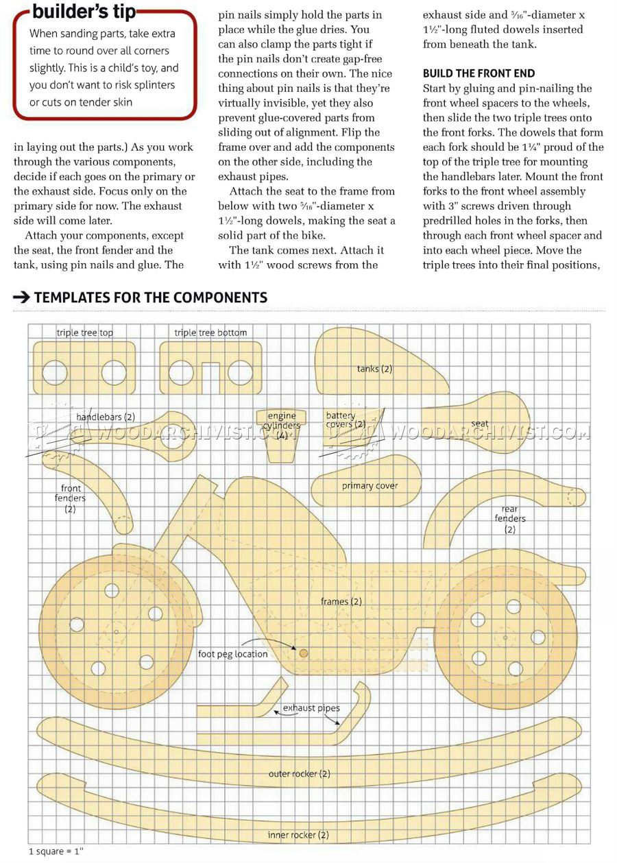 1511 Rocking Motorcycle Plans - Wooden Toy Plans
