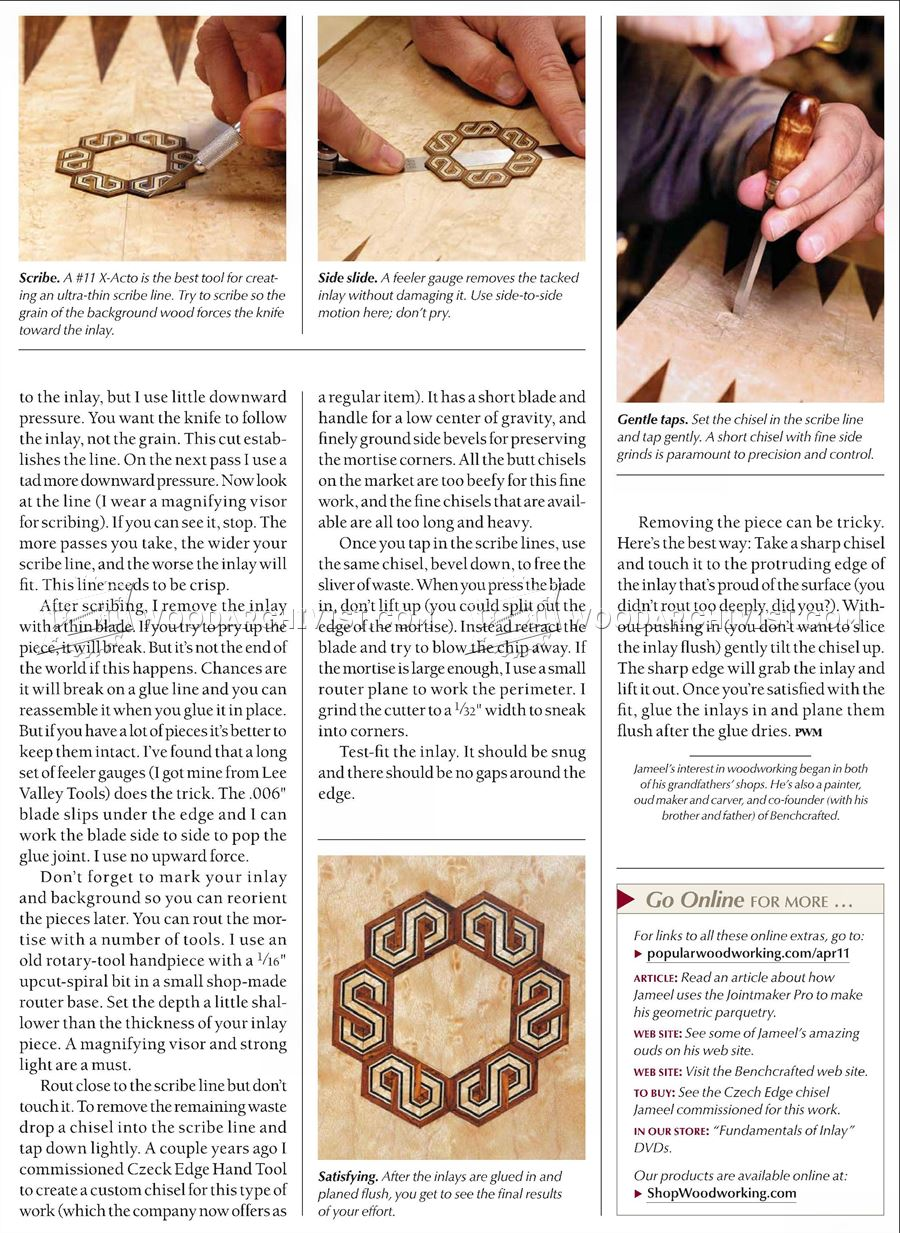 Parquetry Inlay Techniques