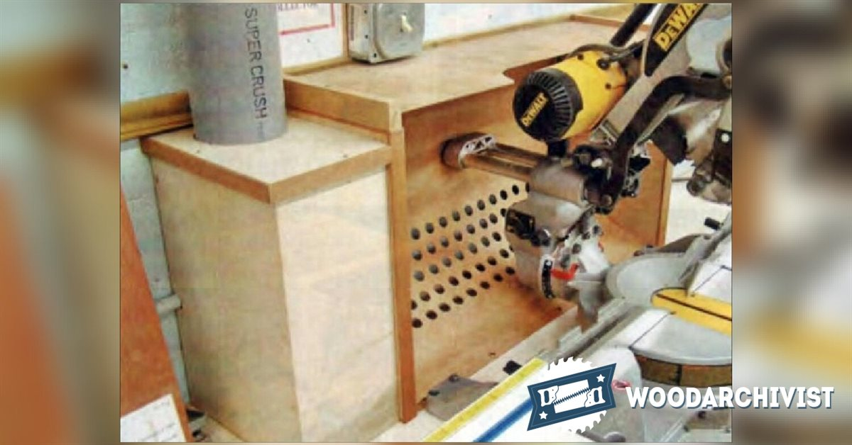 Miter Saw Dust Collection Hood Woodarchivist