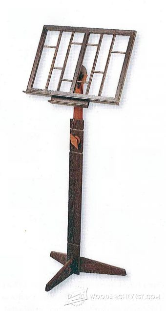 1518-Wooden Music Stand Plans