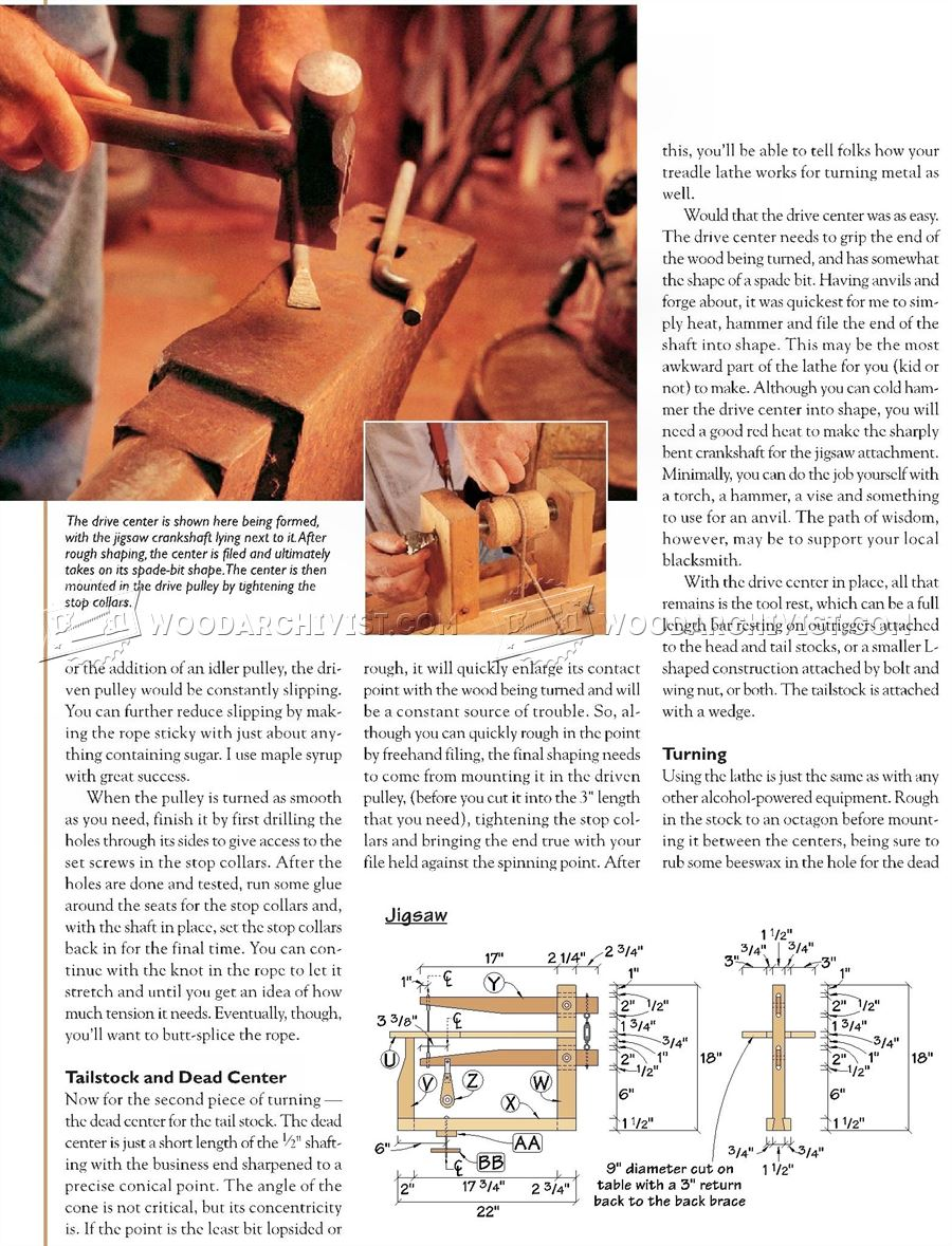 Foot Powered Lathe and Scroll Saw Plan