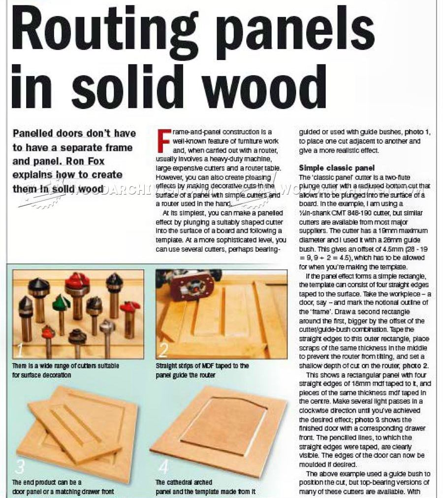 Routing Panels in Solid Wood