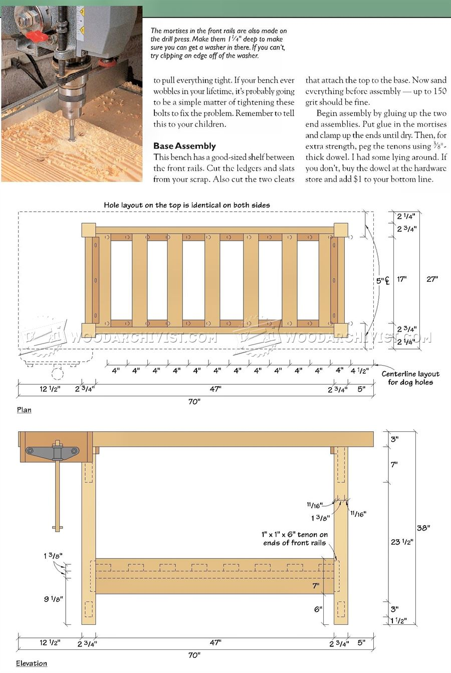 Wood Workbench Plan Woodarchivist