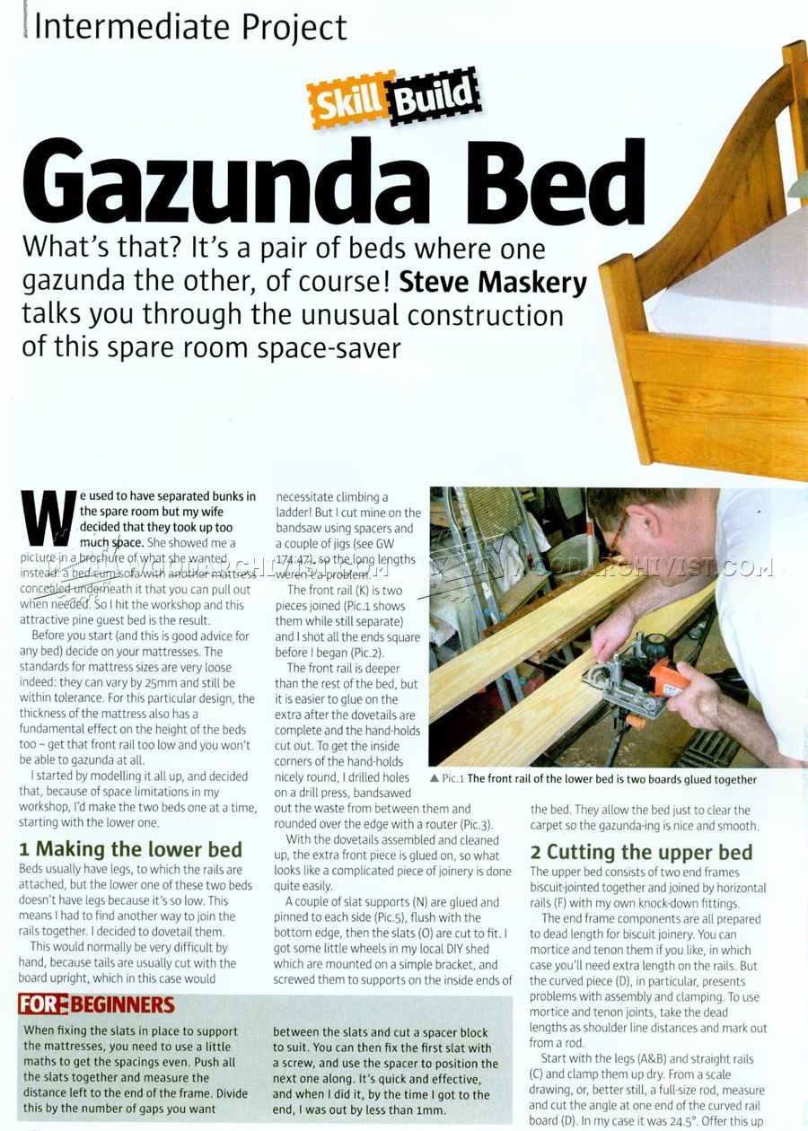 #1543 Gazunda Bed Plan