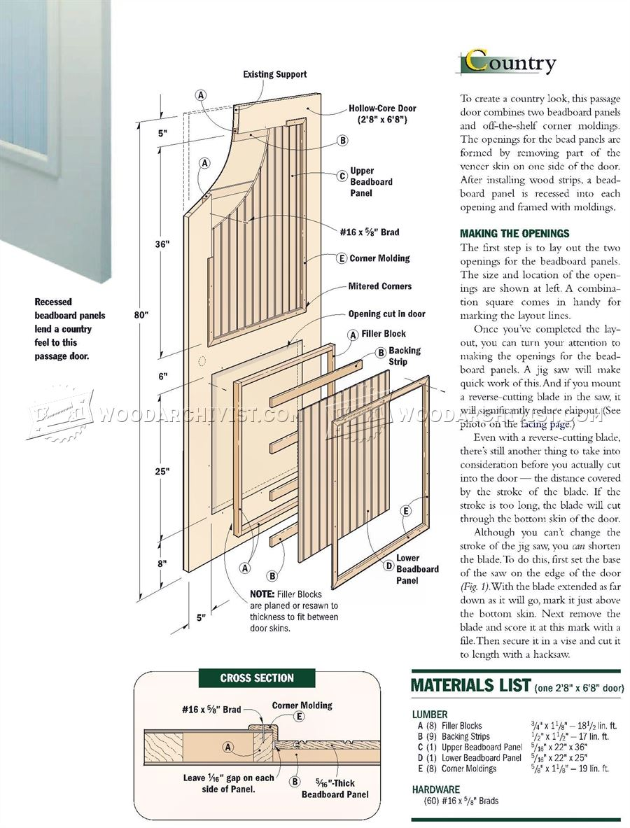 Making interior doors woodarchivist for Interior door construction