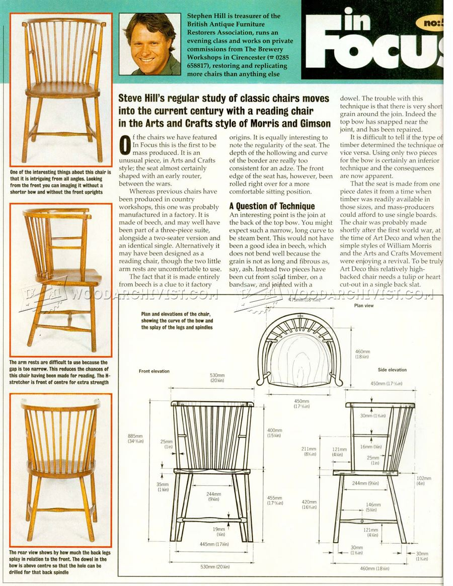 Arts and Crafts Reading Chair Plans