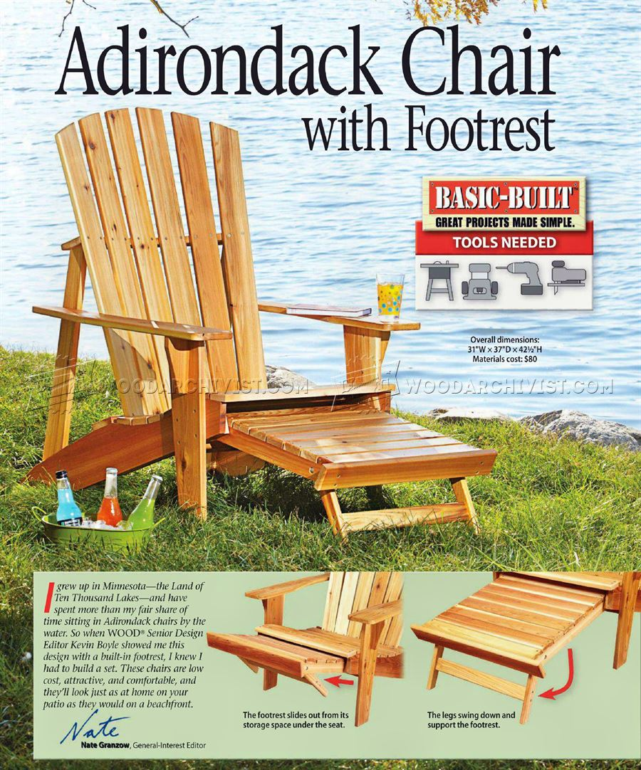 54 fish adirondack chair pattern pinpoint mounts for Free greene and greene furniture plans