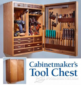 1553-Tool Storage Cabinet Plans