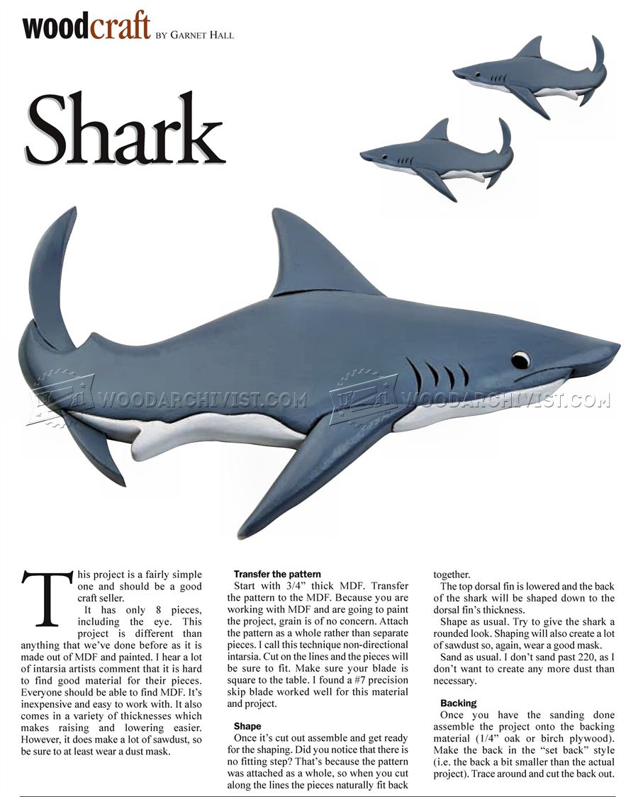 Shark - Intarsia Patterns