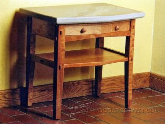 1559-Stone-Topped Nightstand  Plans