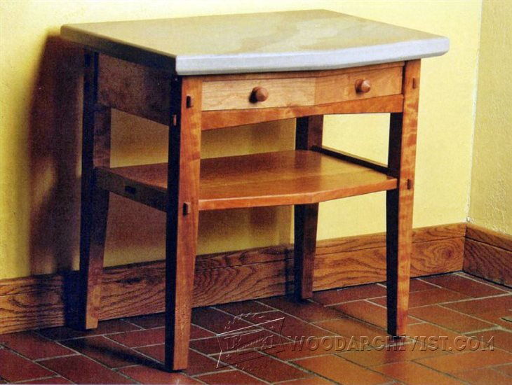 1559 stone topped nightstand plans woodarchivist for Nightstand plans