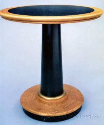 1560-Pedestal Base Table   Plans